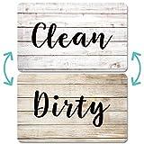 Aimants Pour Lave-vaisselle Scdom, Aimant Double Face en Bois Ancien, Aimants Avec Plaques Clean Dirty Magnétiques Pour Lave-vaisselle, Signe de Cuisine à Aimant Super Fort, Logo Facile à Lire