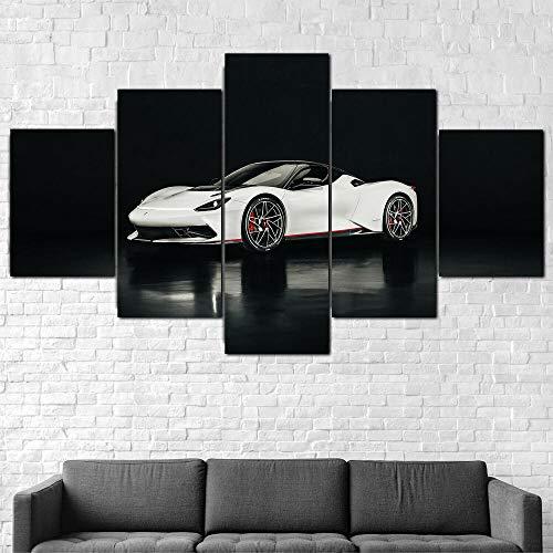 AWER Cuadro en Lienzo 5 Pieza impresión Lienzo artística Pintura Diseño Cuadro Moderno Pared gráfica Coche Battista 2020 arte de pared para el hogar decoración Enmarcado