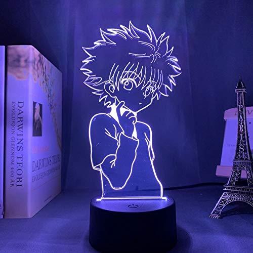 3d Nachtlampe Anime Hunter X Hunter für Kinder Kinderzimmer Dekor Nachtlicht Dropshipping Manga Geschenk Hunter X Hunter Nachtlicht 16 Farbe mit Fernbedienung LR06