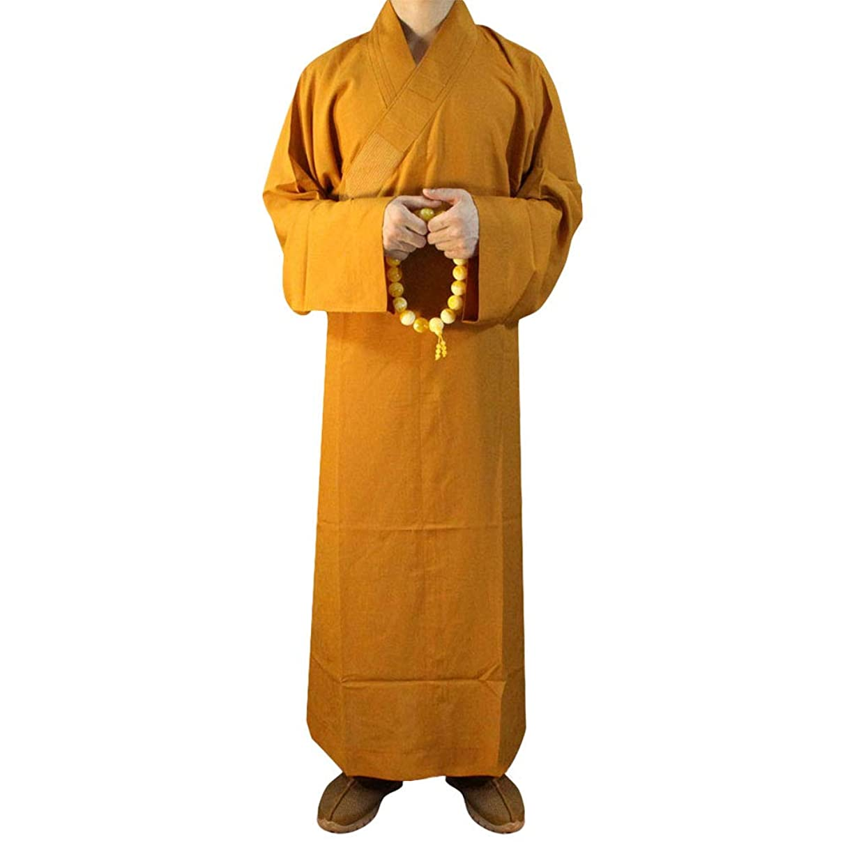 ZooBoo Summer Buddhist Shaolin Monk Robe Cotton Linen Long Robes Gown Kung Fu Uniforms Martial Arts Clothing