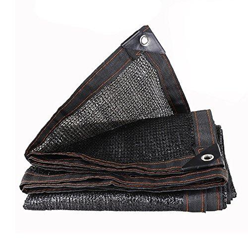 MX Ombrage Net Tissu d'Ombre - 90% -92% Rectangle UV Ombre Sun Shade Voile Parfaite pour Jardin Patio Extérieur (Couleur : Black, Taille : 2x2m)