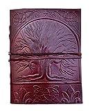 Árbol de la Vida | Cuaderno de cuero || Libro en blanco para hombres y mujeres | Para uso en oficina diario de cuero