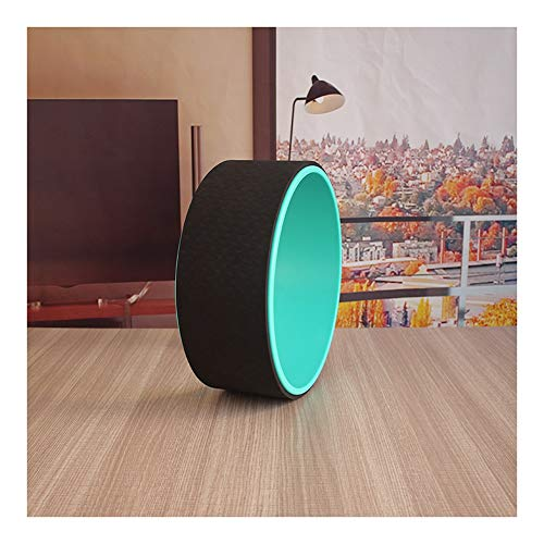 AWYDHC Pilates Circle Yoga Roller Backbend Stretch Roller Prop Wheel for Back Pain, Improving Flexibility and Backbends (Color : Black)
