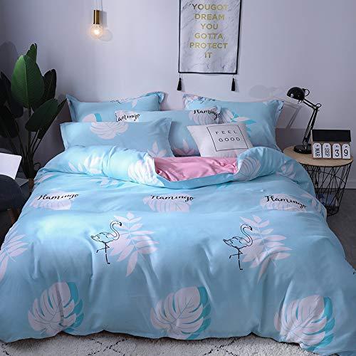 BH-JJSMGS Bettwäsche vierteilige Baumwolle, Doppelbett Einzelbettbezug, JJ, 180 * 220cm