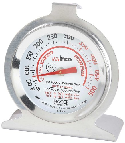 Winco 2-Inch Dial Oven Thermometer with Hook and Panel Base (TMT-OV2)
