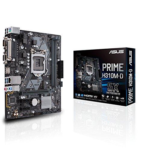 ASUS Prime H310M-D Intel H310 LGA 1151 (Socket H4) microATX - Placa Base (DDR4-SDRAM, DIMM, 2133,2400,2666 MHz, Dual, 32 GB, Intel)