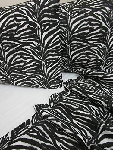 Pago Poco Bettwäsche-Set für Doppelbett, Zebra-Design, 100 % Baumwolle aus Naturfaser Novitò 2020!