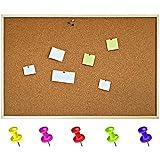 Creative Home 30 x 40 cm Pinnwand Korkwand Memoboard Korktafel | inkl. 5 Pinwandnadeln | Groß Brett...