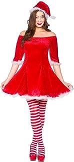 Saucy Ladies Santa Dress Christmas Fancy Dress Costume Adult Womens UK 10//12