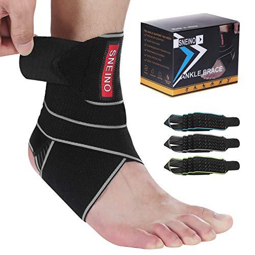 SNEINO Ankle Brace for Women & Men - Ankle Brace Stabilizer - Ankle Brace for Women Sprained Ankle,Running Ankle Brace,Adjustable Ankle Brace,Ankle Support Brace,Volleyball Ankle Brace (1 PACK)