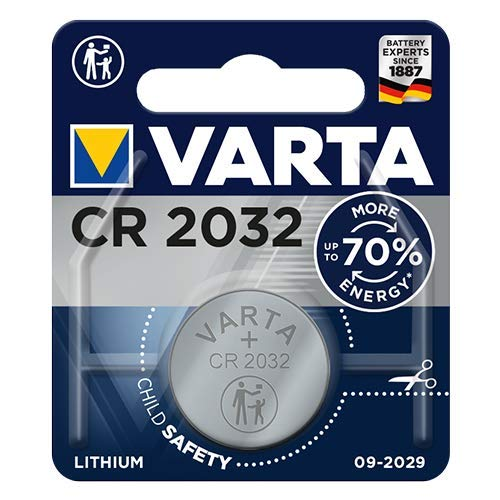 Varta CR2032 Lithium Knopfzellen 3V Batterie in Original Blisterverpackung, 1er Pack