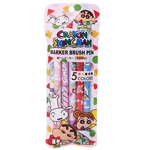 クレヨンしんちゃん[筆ペン マーカー 5色セット]カラーペン/Bセット