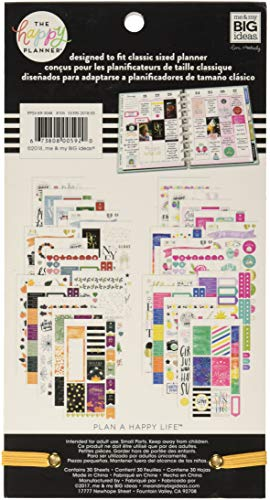 me & my BIG ideas Sticker Value Pack - The Happy Planner Scrapbooking Supplies - All in A Season Theme - Multi-Color… |