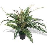 vidaXL Helecho Planta Artificial con Macetero 60 cm Verde Maceta de Plástico...
