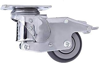 Feixunfan Caster wielen 101mm Caster Wielen Demping Load 320KG Wielkatrol 4 Stks Voor Opbergrek Trolley (Kleur: Zilver, Ma...