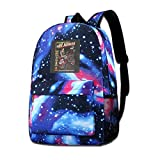 Galaxy Printed Shoulders Bag The Astonishing Adventures Of Mr Herman Pee Wee Herman Fashion Casual Star Sky Backpack For Boys&girls