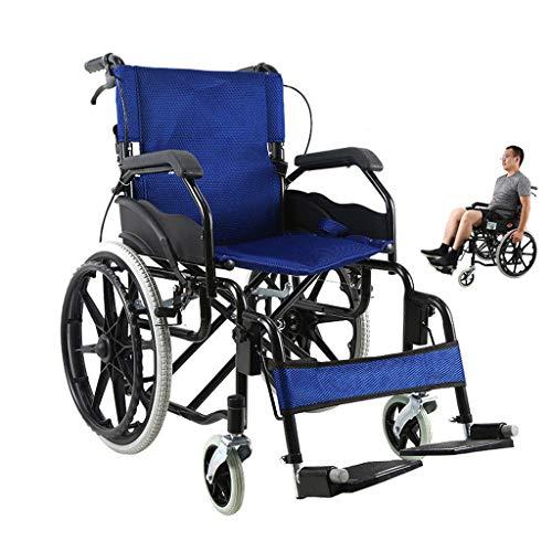 Rollstuhl Faltbar,Kohlenstoffstahl hohe tragfähigkeit Erwachsene Rollstühle,Rollator Faltbar Leichtgewicht,D