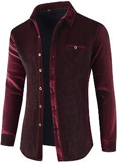 Mens Shirt Long Sleevs Warm Fleece Lining Thick Shirt Tops Comfortable Shirt Autumn Winter Casual Stylish Work or Casual D...
