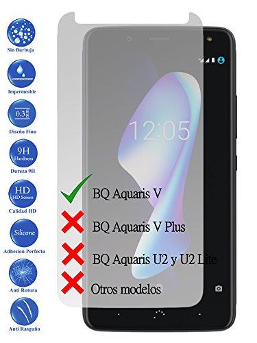 Todotumovil Protector de Pantalla BQ Aquaris V de Cristal Templado Vidrio 9H para movil