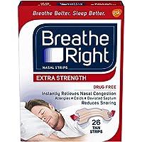 海外直送品Breathe Right Breathe Right Nasal Strips Extra, 26 each
