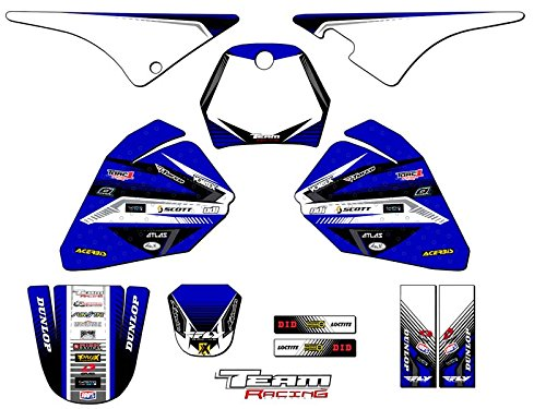 Team Racing Graphics kit compatible with Yamaha All Years PW 80, ANALOG Complete Kit