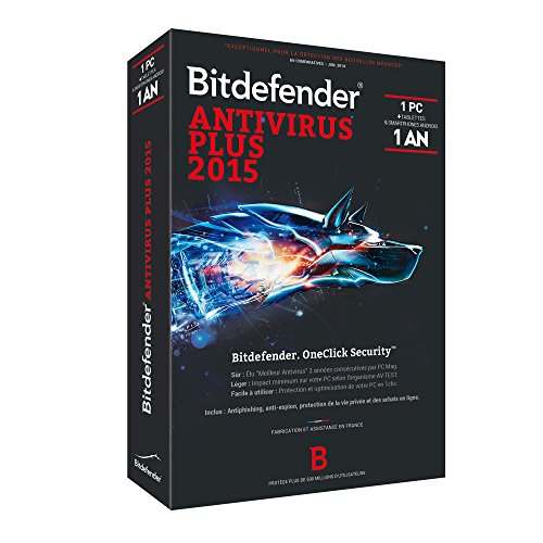 Bitdefender Antivirus Plus 2015 (1 poste, 1 an)