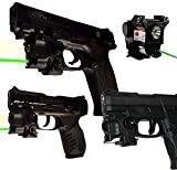 LASERPRO Green Compact Laser Sight with LED Light for...