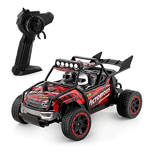 KGUANG 1:18 Off-Road de Alta Velocidad Drift Climbing RC Car 2.4G Amortiguador Carga USB Control Remoto de Alta Velocidad Buggy Carrera Todoterreno Camión de Juguete para niños Vehículo