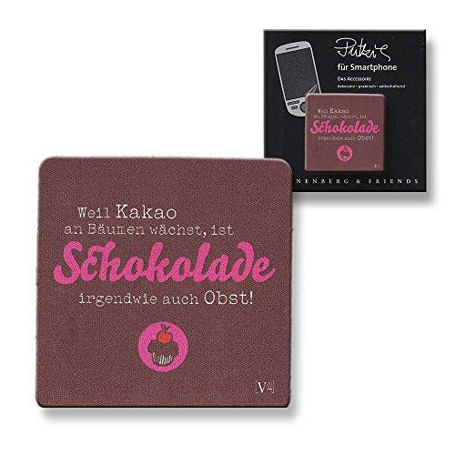 Putztuch fürs Handy Displayputztuch Putzi Smartphone Schokolade ist Obst