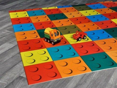 Crazy Block Tappeto Gioco Vinilico per Bambini, Asili Nido 200x300 cm