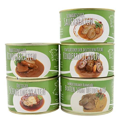 Diem Braten Paket (traditioneller Rinderbraten, klassische Rindsroulade, schwäbischer Sauerbraten,...