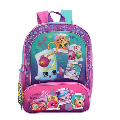 Shopkins Cordura Backpack, Blue/Pink, 16