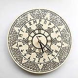 WZCXYX Reloj de Pared con símbolo Celta Hecho de Madera, bellamente Cortado, Decora tu hogar con Arte Moderno, decoración de Cocina, Dormitorio, habitación Vintage, tamaño 12 Pulgadas Personalizable