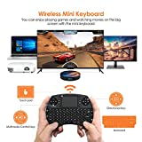 Mini tastiera retroilluminata BANFAO, mini tastiera wireless da 2,4 GHz con combinazione mouse touchpad, controller ricaricabile, compatibile con Android TV Box, IPTV, HTPC, Smart TV, PC, X-Box