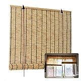LMDX Persianas De Bambú Natural - Cortina De Madera - Caña Persiana Exterior Enrollables para Jardín Patio Balcón, Cocina, Cortina De Bambú para Interiores Ventana 110x200cm