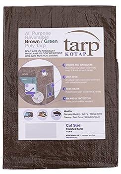 Kotap TBG-1220 All Purpose Reversible Poly Tarp 12 ft X 20 ft Brown-Green