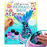 Just My Style Paint Your Own Mermaid Bank by Horizon Group USA. Paint & Decorate Your Own Coin Bank with Color Changing Sequin Decal & Metallic Holographic Paints , Blue