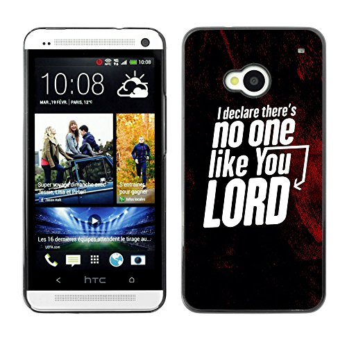 DREAMCASE (NICHT HTC ONE MINI M4) Bibelzitate Bild Hart Handy Schutzhülle Schutz Schale Case Cover Etui für HTC ONE M7 - Es ist niemand wie dein Herr