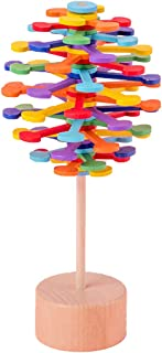 yeesport Lollipop Stress Relif Toy Creative Rotating Spin Toy Decompression Wooden Toy for Adult