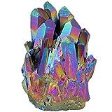mookaitedecor Titanium Coated Natürlichen Bergkristall Rohstück Geode Dekorative Stein Naturstück...