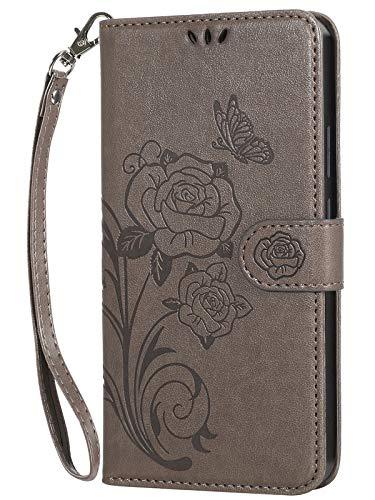 Vinanker Cover per iPhone 6/iPhone 6S, Flip Cover in Pelle Premium Portafoglio Custodia per iPhone 6/iPhone 6S (Grigio)