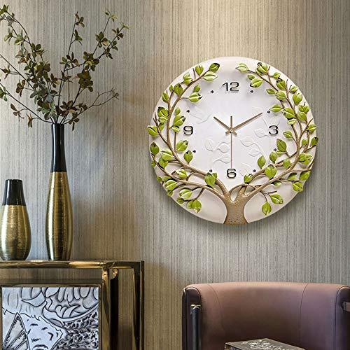 Reloj de pared – cerámica epoxi, puntero de metal, personalidad/hogar/reloj, reloj de pared moderno para sala de estar, dormitorio, reloj de pared creativo (40,5 x 40,5 cm) mereces tener