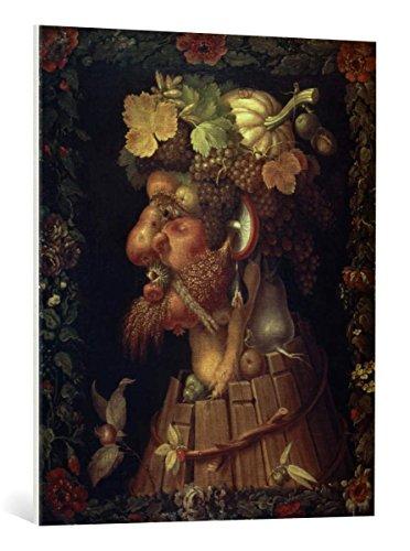 Kunst für Alle Cuadro en Lienzo: Giuseppe Arcimboldo Autumn - Impresión artística, Lienzo en Bastidor, 75x90 cm