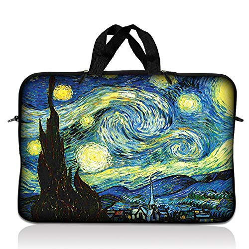 LSS 14.1 inch Laptop Sleeve Bag Carrying Case Pouch with Handle for 14' 14.1' Apple Macbook, GW, Acer, Asus, Dell, Hp, Sony, Toshiba, Starry Night