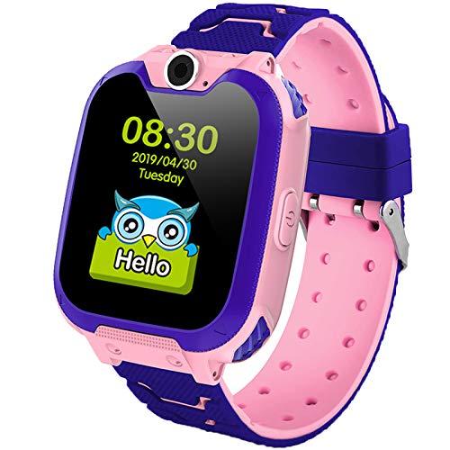 Polywell Kinder Smartwatch Touchscreen Mobile Smartwatches mit LBS SOS Voice Chat Kamera Taschenlampe Wecker Digitalkamera Kids Smart Watch fur Madchen Kompatibel mit IOS und Android