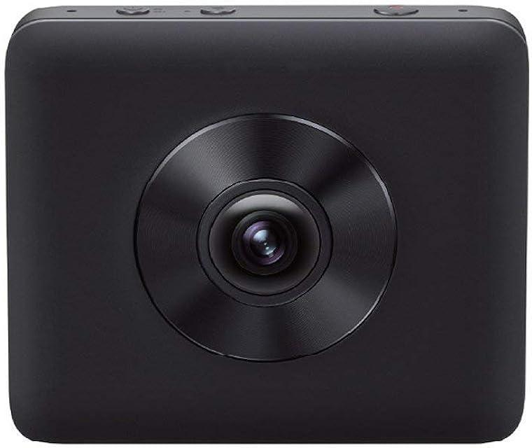Xiaomi Mi Sphere Camera Kit - Cámara Deportiva panorámica 360° (3.5K a 30 fps 2 Lentes Ojo de pez Gran Angular de 190° Apertura F2.0 estabilizador electrónico de 6 Ejes Fotos de 2388 MP) Negro