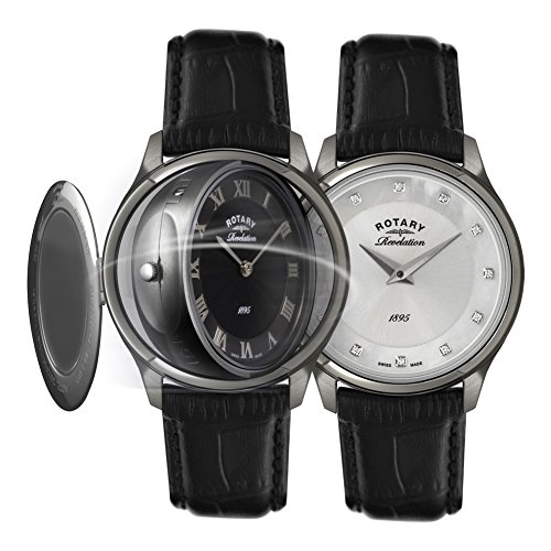 Rotary Reloj para de Cuarzo con Correa en Piel Genuina LS02970/10/07