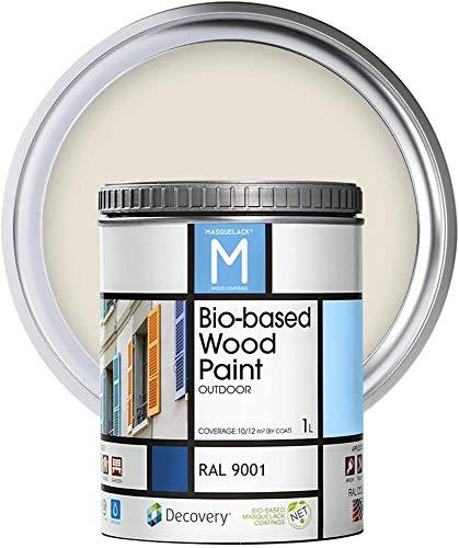 Pintura para Madera | Bio|based Wood Paint RAL 9001 | 1 L...