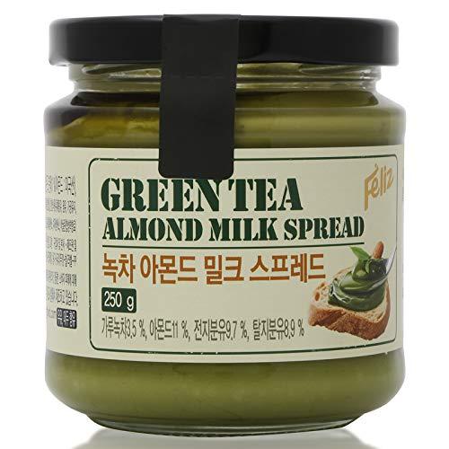 FELIZ BREAD SPREAD GREEN TEA AND ALMOND SIZE 250 G.pack 2