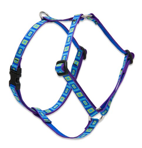 LupinePet Originals 1/2' Sea Glass 12-20' Adjustable Roman Dog Harness for Small Dogs